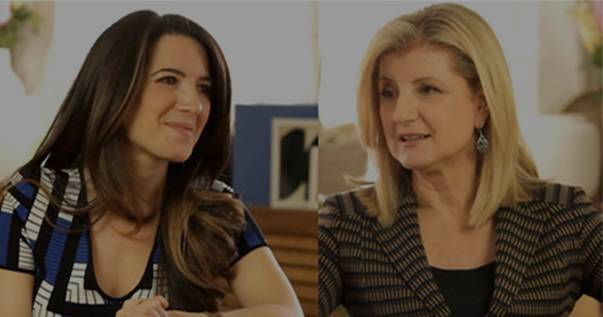 Picture of Marie Forleo and Arianna Huffington