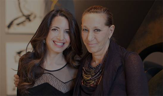 A picture of Marie Forleo and Donna Karan