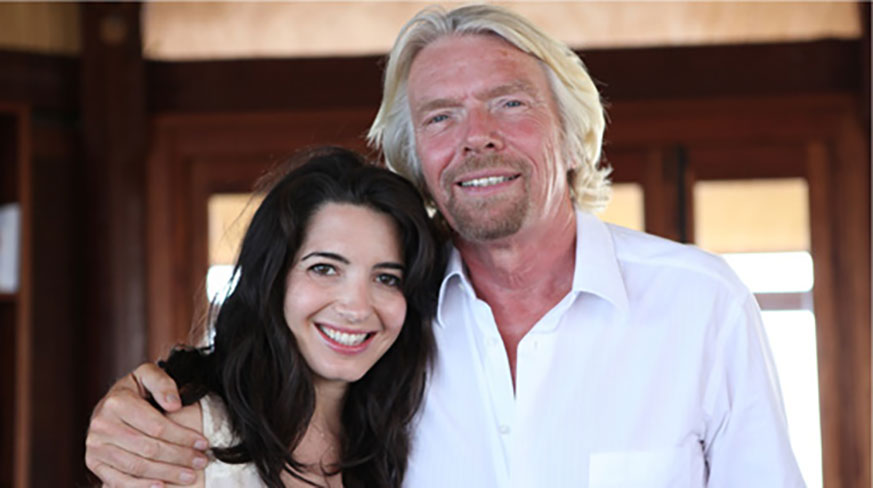 A picture of Marie Forleo and Richard Branson