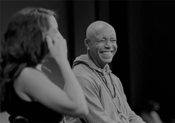 A picture of Marie Forleo and Russell Simmons