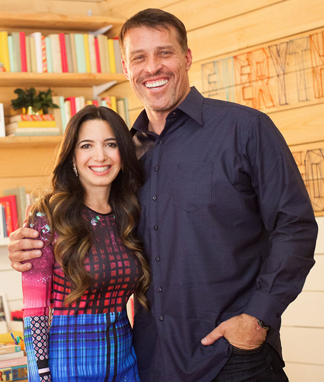 A picture of Marie Forleo and Tony Robbins